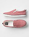 GAP Boys Red Oxford Slip-On Sneakers