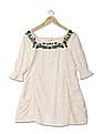Flying Machine Women Embroidered Longline Top