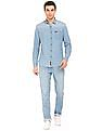 U.S. Polo Assn. Denim Co. Slim Fit Washed Chambray Shirt