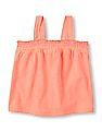 The Children's Place Baby Smocked Strappy Top