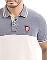 Flying Machine Colour Block Regular Fit Polo Shirt