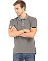 Flying Machine Heathered Pique Polo Shirt