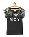 Flying Machine Women Round Neck Graphic T-Shirt