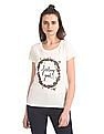 SUGR Round Neck Floral Print T-Shirt