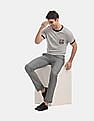 GAP Grey Slim Fit Textured Trousers