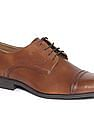Arrow Cap Toe Burnished Leather Shoes