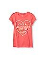 The Children's Place Girls Short Sleeve 'Hola Bonjour Hello Ciao' Heart Graphic Tee