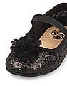 The Children's Place Toddler Girl Chiffon Flower Sparkle Kayla Ballet Flat