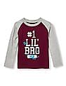 The Children's Place Toddler Boy Long Raglan Sleeve Athletic Graphic Top