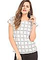 Elle Window Pane Check Boxy Top