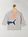 GAP Baby Grey Graphic Long Sleeve Tee