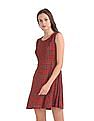 SUGR Checked Fit And Flare Dress