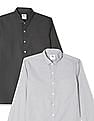 Excalibur Semi Cutaway Collar Mitered Cuff Shirt - Pack Of 2