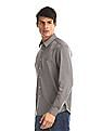 Arrow Sports Brown Slim Fit Patterned Shirt