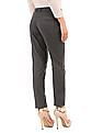 Arrow Woman Mid Rise Flat Front Trousers