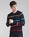 GAP Full Sleeve Patterned Striped Sweater