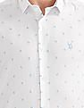 USPA Tailored Slim Fit Patterned Shirt