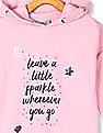 Cherokee Girls Hooded Graphic Sweatshirt
