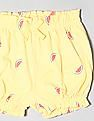 GAP Yellow Baby Girl Bubble Shorts